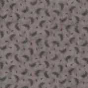 Moda Quill by 3 Sisters - 5619 - Feather Print, Plumes  on Grey - 44158 12 - Cotton Fabric